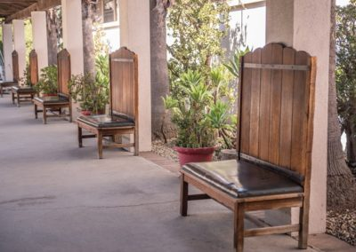 Historical chairs at the Southwest Museum