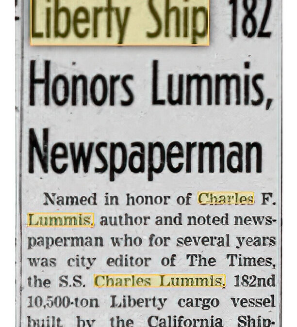 U.S. Liberty Ship Named For Charles Lummis